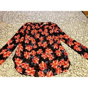 Loft - Used, Flower Print Blouse.